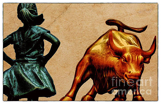 Fearless Girl and Wall Street Bull Statues 17 by Nishanth Gopinathan