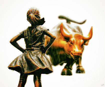 Fearless Girl and Wall Street Bull Statues 21 by Nishanth Gopinathan