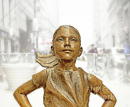 Fearless Girl Statue 1 by Nishanth Gopinathan