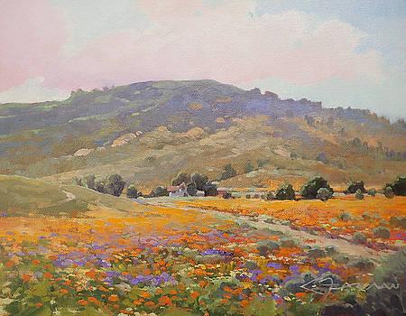Fearman_Early Spring in Antelope Valley_11x14_oil by Lynne Fearman