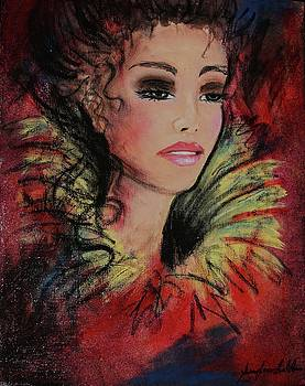 Feather Lady by Guylaine Leblanc