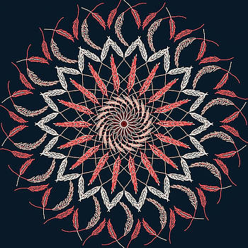 Feather Mandala 1 by Ronda Broatch