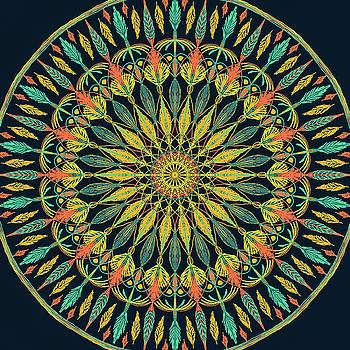 Ronda Broatch - Feather Mandala II