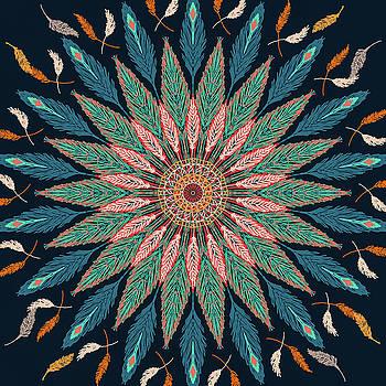 Ronda Broatch - Feather Mandala III