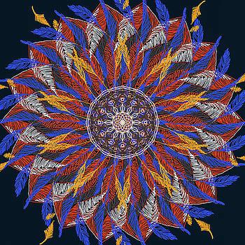 Ronda Broatch - Feather Mandala IV