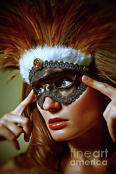 Dimitar Hristov - Feather mask Venetian Eye Mask