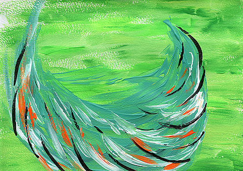 Feathers in the Grass by Neliza Drew