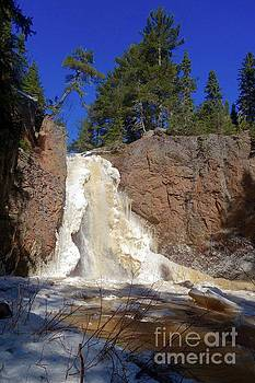 February at Gauthier Falls by Sandra Updyke