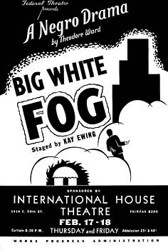Federal Theatre Big White Fog poster 1938 by Vintage Printery