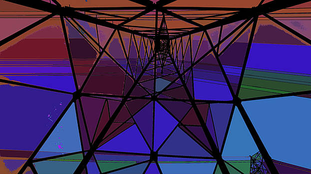 Feed To A Power Line Of Color by Kenneth James