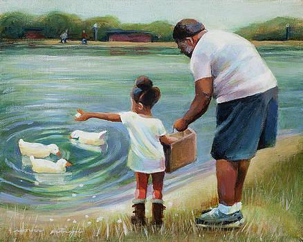 Feeding Ducks with Grandpa by Renee Peterson