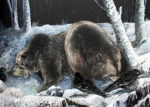 Feeding frenzy with Grizzly Bears by Jan Lowe