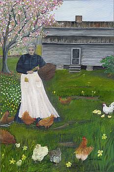 Feeding the Chickens by Linda Clark