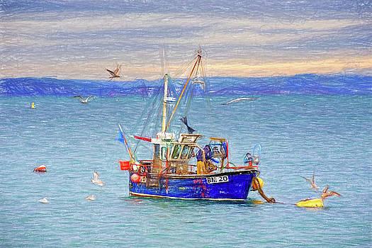 Feeding The Gulls - Impressions by Susie Peek