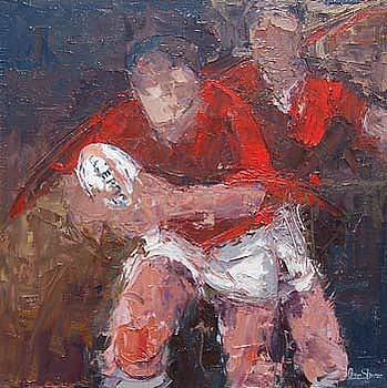 Feel The Passion Return Journey  Ltd Edition canvas Rugby Prints Collection  by Allan Storer M A medium print