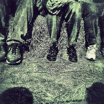 Feet On A Hayride In Monochromatic by Phunny Phace