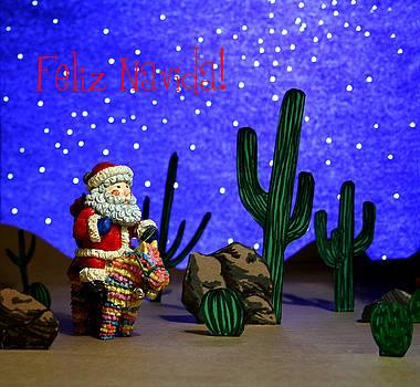 Feliz Navida Santa by Marna Edwards Flavell