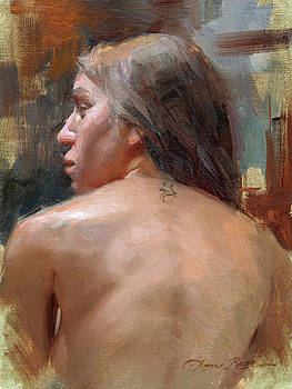 Female Back Study by Anna Rose Bain
