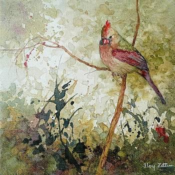 Female Cardinal by Floy Zittin