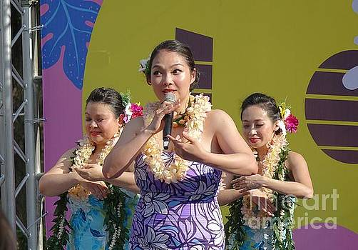 Female Dancers Perform a Hawaiian Dance by Yali Shi