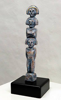 Female Figurine - Goddess Worship - Matronen - Matrone - Matrones - Matron - Nettersheim Eifel  by Urft Valley Art