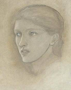 Female head study by Edward Coley