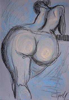 Female Nude - Dos 1 by Carmen Tyrrell