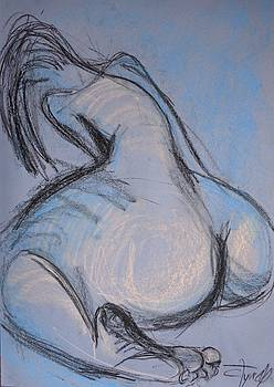 Female Nude - Dos 2 by Carmen Tyrrell