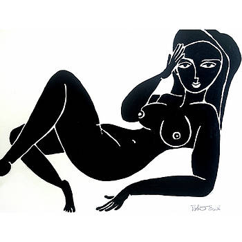 Female Nude Pose Classy by Robert R Splashy Art Abstract Paintings
