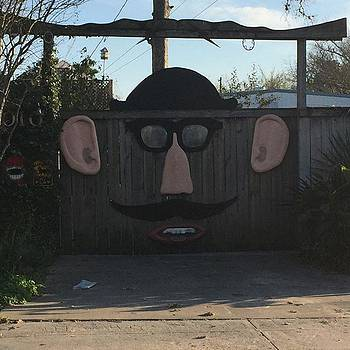 Fence Face . #art  #fence #face by Gin Young