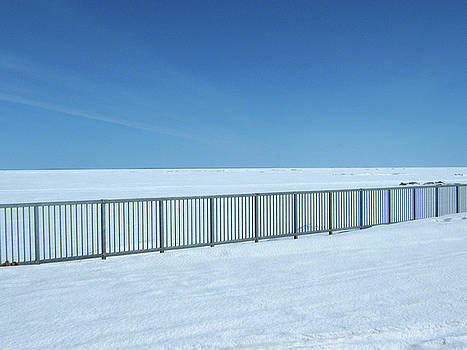 Fence in Snow by Emma Frost