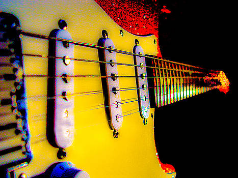 Stratocaster Pop Art Red Fire Neck Series by Guitar Wacky