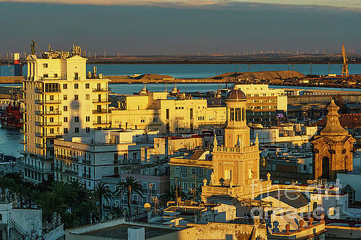 Fenix Building and Townhall from West Tower Cadiz Spain by Pablo Avanzini