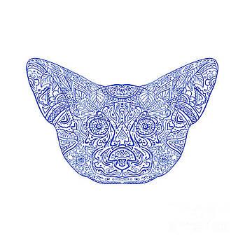 Fennec Fox Head Mandala by Aloysius Patrimonio