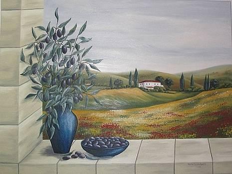 Fenster mit Oliven by Haike Espenhain