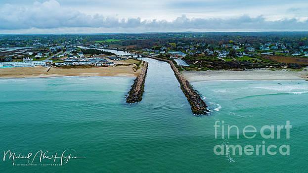 Fenway Beach Breakwater by Michael Hughes