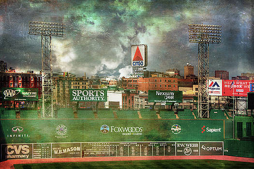 Fenway Park Green Monster and CITGO Sign by Joann Vitali