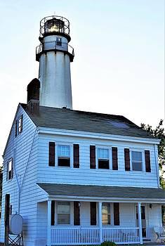 Fenwick Island Lighthouse and Keeper Home by Kim Bemis