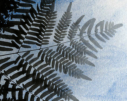 Fern Abstracted in Blue by Stephanie Maatta Smith
