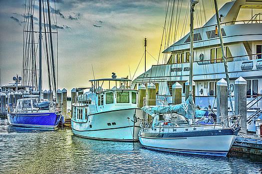 Fernandina Harbor - Amelia Island by Barry Jones