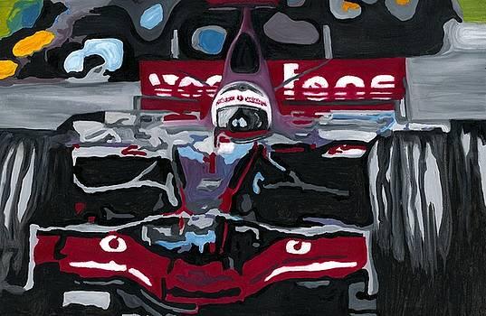 Fernando Alonso Wins Monaco for McLaren 2008 by Ran Andrews