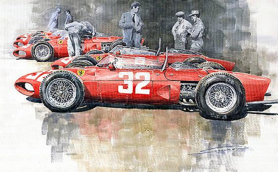 1961 Ferrari 156 Italian GP 1961 by Yuriy  Shevchuk