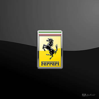 Serge Averbukh - Ferrari 3D Badge- Hood Ornament on Black