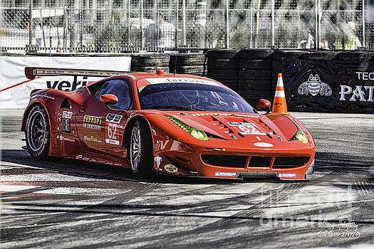 Ferrari Rounds The Hairpin by Bill Baer