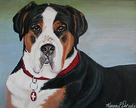 Ferris the Greater Swiss Mountain Dog by Karen Dortschy