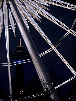 Ferris Wheel at Night by Kelly E Schultz