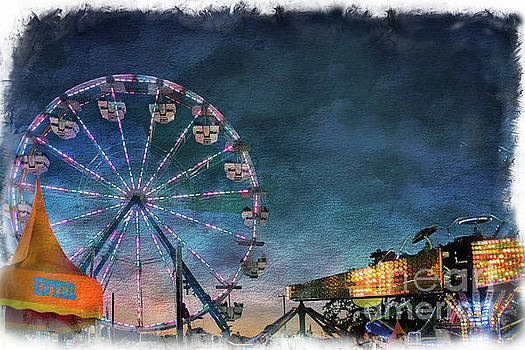 Ferris Wheel at Night by Norma Warden