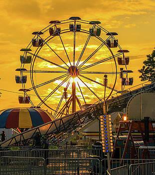 Ferris Wheel Sunset At Fair by Dan Sproul