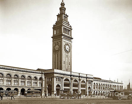 California Views Mr Pat Hathaway Archives - Ferry Building at foot of Market St. April 3, 1900