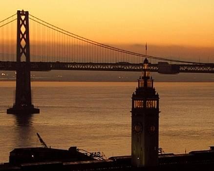 Ferry Building - Bay Bridge by Richard Nodine